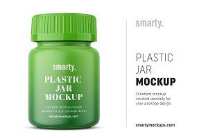 Tablets Jar Mockup