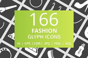 166 Fashion Glyph Inverted Icons
