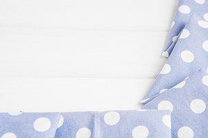 Light violet blue polka dots folded