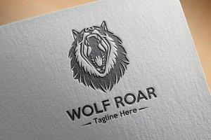 Wolf Roar Logo Template