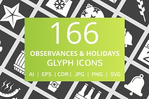 166 Observances & Holiday Glyph Icon
