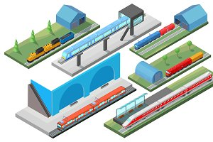 Isometric Railway Transport Concept