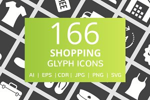 166 Shopping Glyph Inverted Icons