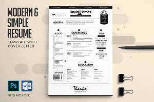 Resume & Cover Letter Template Set
