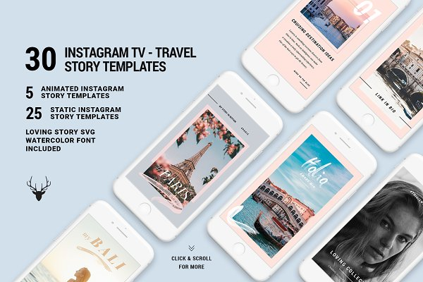 IGTV - ANIMATED Instagram Stories PSD Template - Free 10000+