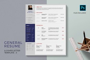 Job Resume CV & Cover Letter PSD Set