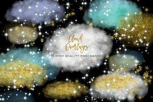 Starry Night Overlays, Star clipart