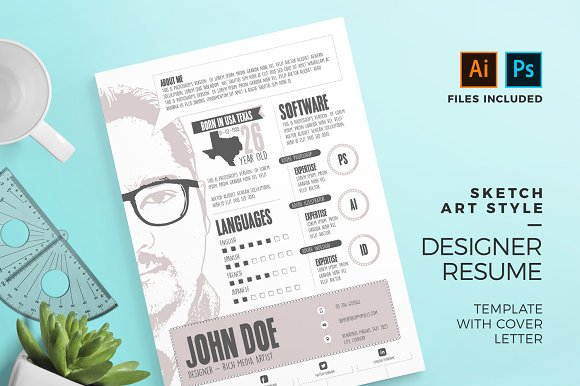 graphic designer resume cv template resume templates creative market