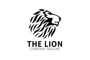 The Lion Head Logo Template