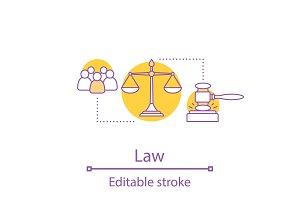 Law concept icon