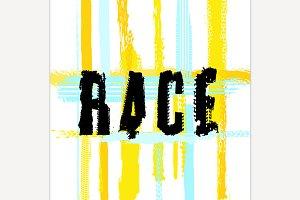 Race lettering Image