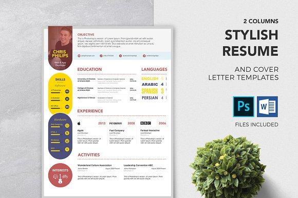 cv coverletter template docx format resume templates creative market