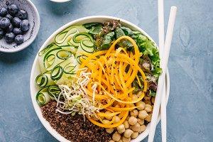 Buddha bowl salad with fresh vegetab
