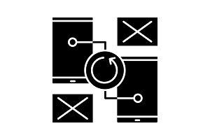 Smartphones error icon