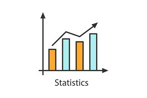 Statistics color icon