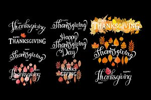 Set Thanksgiving Day lettering