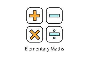 Maths symbols color icon