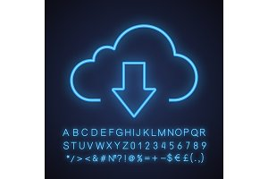 Cloud storage files download icon