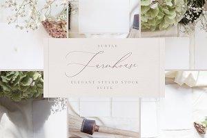 Rustic Farmhouse Wedding Mock Ups