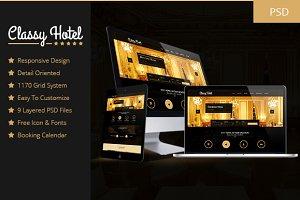 Classy - Booking Hotel Luxury PSD