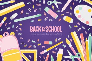 Back to school sale advertisement