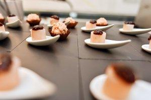 Food gourmet molecular sweet dessert