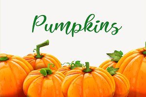 Pumpkins background