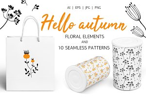 HELLO AUTUMN patterns + elements