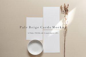 Pale Beige Card Set Mockup 5x7 Ratio