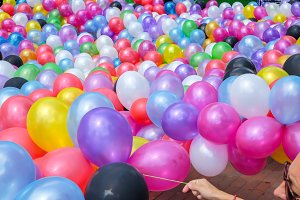 Colorful balloons at the children's