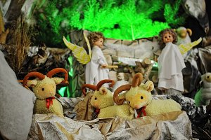Christmas nativity crib sets