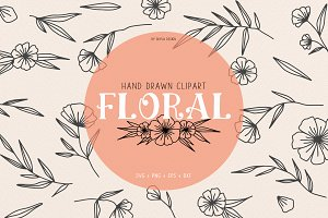 Floral wedding clipart illustration