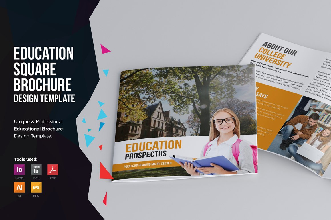 exhibitor prospectus template - education square prospectus brochure templates