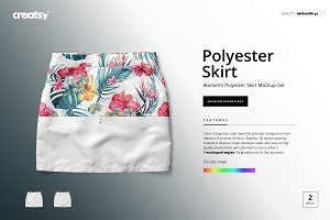 Women's Polyester Skirt Mockup Set