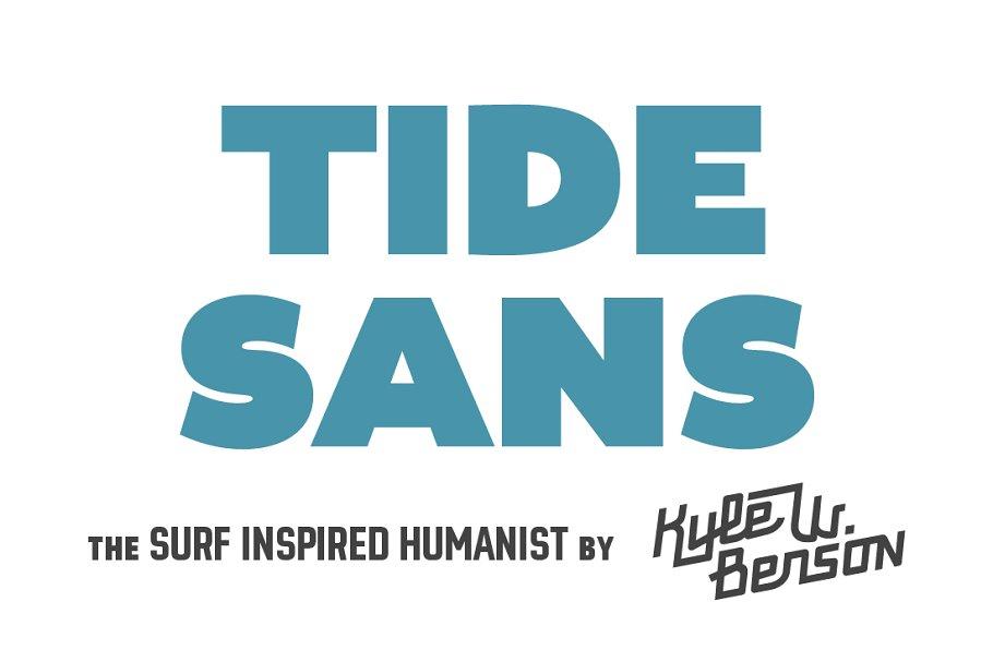 Tide Sans ~ Sans Serif Fonts ~ Creative Market