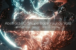 Abstract 3D Shape Backgrounds Vol8