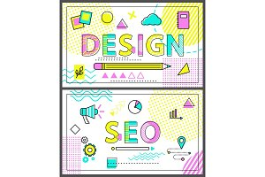 Design and Seo Banners with Linear