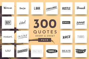 Short Quotes - 300 Quotes Pack