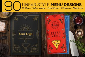 90 Linear Style Menu Designs