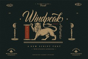 Windpeak Script Font