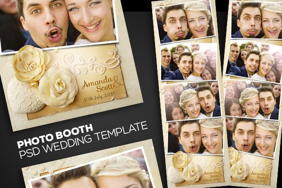Photobooth psd wedding template templates creative market photobooth psd wedding template templates maxwellsz