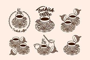 Turkish coffee illustration