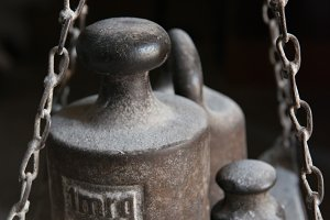 A photo of vintage weights