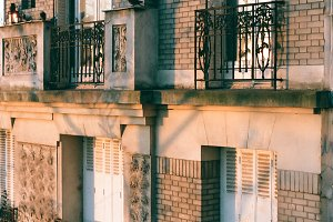 A photo of a Parisian house