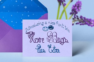 Love Bugs Font Trio