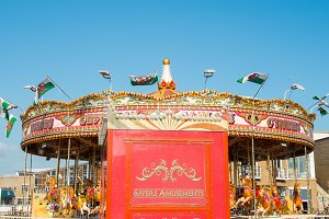 A photo of a carousel