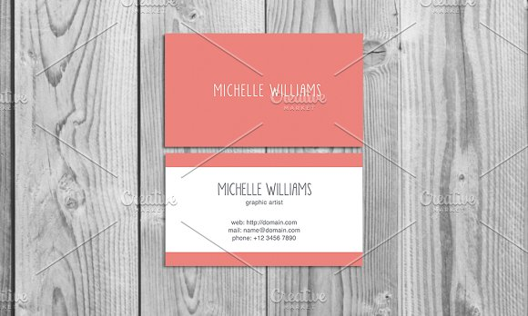 cute business card template business card templates creative market. Black Bedroom Furniture Sets. Home Design Ideas