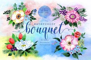 Four wonderful bouquet flowers PNG