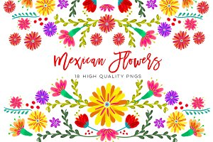 Mexican Watercolor Floral clipart