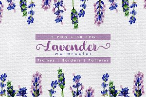 Holiday purple lavender flowers PNG